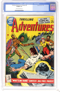 Thrilling Adventures in Stamps #8 (Stamp Comics, 1953) CGC VF/NM 9.Cream to off-white pages. Overstreet has listed this...