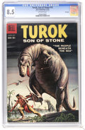 Silver Age (1956-1969):Adventure, Turok #15 File Copy (Dell, 1959) CGC VF+ 8.5 Off-white pages. Overstreet 2006 VF 8.0 value = $79; VF/NM 9.0 value = $125. CG...