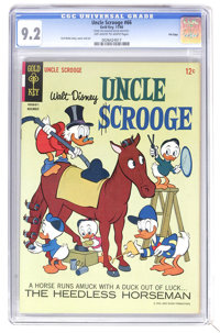 Uncle Scrooge #66 File Copy (Gold Key, 1966) CGC NM- 9.2 Off-white to white pages. Carl Barks story, cover, and art. Ove...