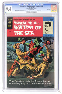 Voyage to the Bottom of the Sea #15 File Copy (Gold Key, 1969) CGC NM 9.4 Off-white pages. Painted cover. Alberto Giolit...