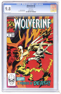 Wolverine #9 (Marvel, 1989) CGC NM/MT 9.8 White pages. Gene Colan cover and art. Highest CGC grade for this issue. Overs...