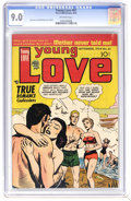 Golden Age (1938-1955):Romance, Young Love #61 (Prize, 1954) CGC VF/NM 9.0 Off-white pages. JoeSimon and Jack Kirby cover and art. Overstreet 2006 VF/NM 9....