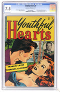Golden Age (1938-1955):Romance, Youthful Hearts #1 (Youthful Magazines, 1952) CGC VF- 7.5 Cream tooff-white pages. Frankie Laine partial photo cover, story...