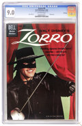 Silver Age (1956-1969):Adventure, Zorro #9 File Copy (Dell, 1960) CGC VF/NM 9.0 Off-white pages. Guy Williams photo cover. Alex Toth art. Overstreet 2006 VF/N...