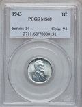 Lincoln Cents, 1943 1C MS68 PCGS....
