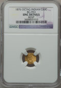 California Fractional Gold: , 1876 50C Indian Octagonal 50 Cents, BG-953, R.5, -- Bent -- NGCDetails. Unc. NGC Census: (0/1). PCGS Population (0/32). ...