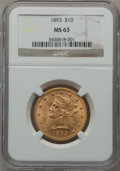 Liberty Eagles: , 1893 $10 MS63 NGC. NGC Census: (6285/733). PCGS Population(2170/230). Mintage: 1,840,895. Numismedia Wsl. Price for proble...