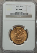 Liberty Eagles: , 1897 $10 MS62+ NGC. NGC Census: (3516/1436). PCGS Population(1907/737). Mintage: 1,000,159. Numismedia Wsl. Price for prob...