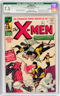Silver Age (1956-1969):Superhero, X-Men #1 (Marvel, 1963) CGC Qualified VF- 7.5 Off-white pages....