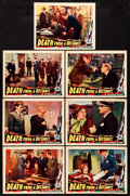 "Movie Posters:Mystery, Death from a Distance (Invincible, 1935). Lobby Cards (7) (11"" X14""). Mystery.. ... (Total: 7 Items)"
