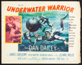"Movie Posters:Adventure, Underwater Warrior (MGM, 1958). Half Sheets (4) (22"" X 28"").Adventure.. ... (Total: 4 Items)"