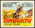 "Movie Posters:Adventure, Timbuktu (United Artists, 1959). Half Sheets (2) (22"" X 28"") StylesA & B. Adventure.. ... (Total: 2 Items)"