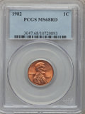 Lincoln Cents, 1982 1C Large Date MS68 Red PCGS....