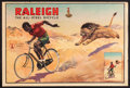 "Movie Posters:Foreign, Raleigh Bicycle (J. Howitt & Son, 1950s). British Poster (20"" X 30""). Sports.. ..."