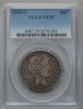 Barber Half Dollars: , 1900-O 50C VF35 PCGS. PCGS Population (11/104). NGC Census: (5/57).Mintage: 2,744,000. Numismedia Wsl. Price for problem f...