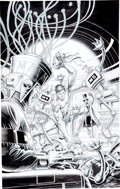 Original Comic Art:Covers, Ralph Reese Magnus Robot Fighter #19 Cover Original Art (Valiant, 1992)....