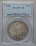 Bust Half Dollars: , 1808 50C XF45 PCGS. PCGS Population (63/264). NGC Census: (59/253).Mintage: 1,368,600. Numismedia Wsl. Price for problem f...