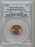 Lincoln Cents: , 1984 1C Doubled Die Obverse MS67 Red PCGS. PCGS Population(160/16). NGC Census: (127/41). Mintage: 8,151,078,912. Numismed...