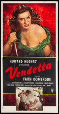 "Movie Posters:Crime, Vendetta (RKO, 1950). Three Sheet (41"" X 79""). Crime.. ..."