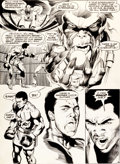 Original Comic Art:Panel Pages, Neal Adams and Dick Giordano All-New Collectors' Edition#C-56 Superman vs. Muhammad Ali Page 55 Original Art (DC,...