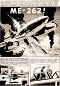 "Original Comic Art:Splash Pages, Wally Wood Blazing Combat #4 ""ME-262!"" Splash Page 1Original Art (Warren, 1966)...."