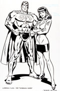 Original Comic Art:Covers, Paul Rivoche Superman #167 Cover Illustration Original Art(DC, 2001)....