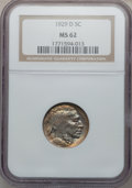 Buffalo Nickels: , 1929-D 5C MS62 NGC. NGC Census: (74/573). PCGS Population(48/1032). Mintage: 8,370,000. Numismedia Wsl. Price for problem...