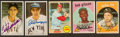 Baseball Cards:Autographs, Fox, Williams, Maris, Gibson and DiMaggio Signed Cards Lot of 5....