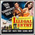 "Movie Posters:Action, Illegal Entry (Universal International, 1949). Six Sheet (80"" X80""). Action.. ..."