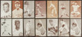 Baseball Cards:Lots, 1939-1966 Exhibit Baseball HoFers Collection (14). ...