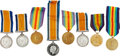 Military & Patriotic:WWI, Lot of Eight British WWI Medals Named to Royal Air Force and RoyalNavy Air Service Personnel.... (Total: 8 Items)