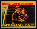 "Movie Posters:Crime, Invisible Stripes (Warner Brothers, 1939). Linen Lobby Card (11"" X14""). Crime.. ..."