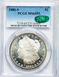 Morgan Dollars: , 1880-S $1 MS65 Prooflike PCGS. CAC. PCGS Population (2478/787). NGCCensus: (1968/858). Numismedia Wsl. Price for problem ...