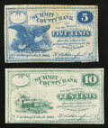 Obsoletes By State:Ohio, Cuyahoga Falls, OH- W.A. Hanford 5¢, 10¢ ___ 1862 Remainders Wolka0943-01, -02. ... (Total: 2 notes)