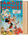 Golden Age (1938-1955):Miscellaneous, Famous Funnies #61-204 File Copies Bound Volumes (Eastern Color, 1939-51).... (Total: 12 Items)