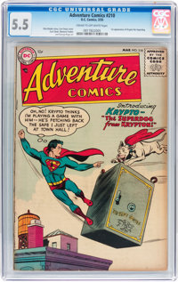 Adventure Comics #210 (DC, 1955) CGC FN- 5.5 Cream to off-white pages