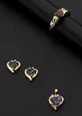 Estate Jewelry:Coin Jewelry and Suites, Mystic Topaz & Diamond Heart Jewelry Suite. ... (Total: 3Items)