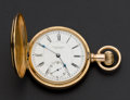 Timepieces:Pocket (pre 1900) , E. Howard Series IX 14k Gold N Size Hunters Case, circa 1891. ...