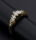 Estate Jewelry:Rings, Marquise Diamond & Gold Ring. ...