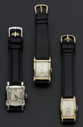 Timepieces:Wristwatch, Three Vintage Wristwatches, All Runners. ... (Total: 3 Items)