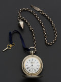 Timepieces:Pocket (pre 1900) , Billodes Turkish Market Fancy Dial Key Wind With Chain For K.Serkisoff Constantinople, circa 1870. ...
