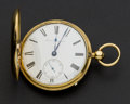 Timepieces:Pocket (pre 1900) , Barwise London 18k Gold 1/4 Repeating Duplex Hunters Case, circa1830. ...