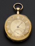 Timepieces:Pocket (pre 1900) , Viner & Co. London Heavy 18k Gold 1/4 Hour Repeater, circa1830. ...