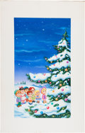 Original Comic Art:Covers, The Christmas Tree VHS Video Box Cover Original Art (Family HomeEntertainment, 1990)....