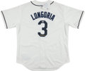 Baseball Collectibles:Uniforms, Evan Longoria Signed Jersey. ...