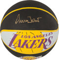 Basketball Collectibles:Balls, Jerry West Signed Basketball. ...