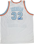 Basketball Collectibles:Uniforms, Magic Johnson Signed All Star Jersey. ...