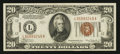 Small Size:World War II Emergency Notes, Fr. 2305 $20 1934A Hawaii Federal Reserve Note. Extremely Fine.. ...