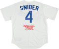 Baseball Collectibles:Uniforms, Duke Snider Signed Dodgers Jersey....