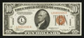 Small Size:World War II Emergency Notes, Fr. 2303 $10 1934A Hawaii Federal Reserve Note. Extremely Fine.. ...